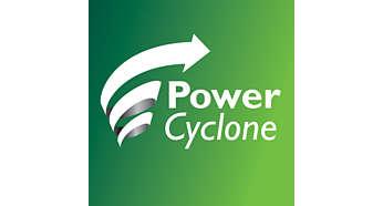 A PowerCyclone 4 technológia egy lépésben választja szét a port és a levegőt