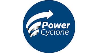 Технология PowerCyclone 4 мгновенно отделяет пыль от воздуха
