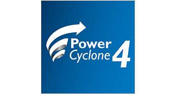 PowerCyclone 4-teknik som separerar damm och luft i ett svep