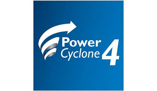 PowerCyclone 4-technologie scheidt lucht en stof in één keer