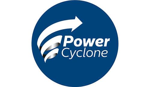 La tecnologia PowerCyclone 4 separa la polvere e l'aria in una volta sola