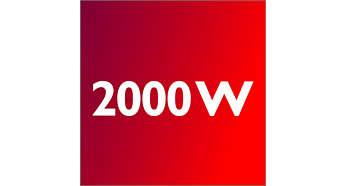 2000 Watt motor for high performance