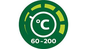 Instelbare tijd- en temperatuurregeling