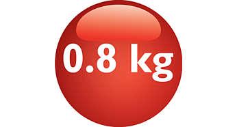 Capacidade de preparo de até 0.8 kg