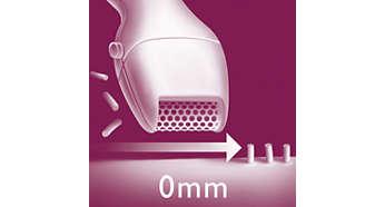 Mini ξυριστική μηχανή. Χρησιμοποιήστε την αφού κοντύνετε το μήκος των τριχών με το τρίμερ.