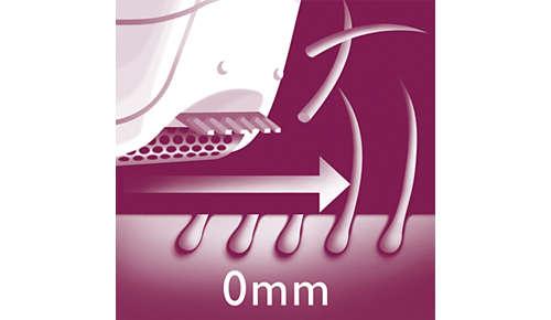 Tête de rasage pour un rasage en douceur des zones sensibles