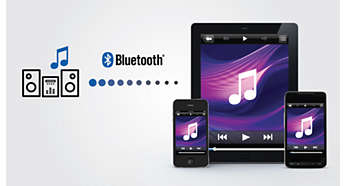 Via Bluetooth muziek streamen van uw smartphones of tablet