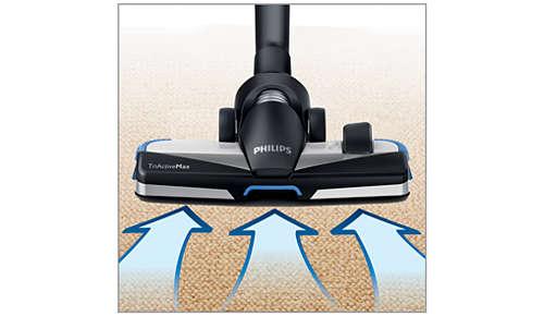 La nouvelle brosse TriActiveMax 3en1 maximise l'aspiration de la poussière