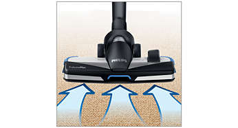 Το νέο πέλμα TriActiveMax 3 σε 1 μεγιστοποιεί την απορρόφηση της σκόνης