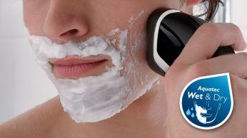 Aquatec: barbear úmido e refrescante ou a seco e prático