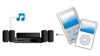 """Garso įvestis leidžia mėgautis muzika iš """"iPod"""" / """"iPhone"""" / MP3 grotuvų"""