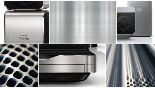 Täiustatud, kvaliteetse alumiiniumviimistlusega disain