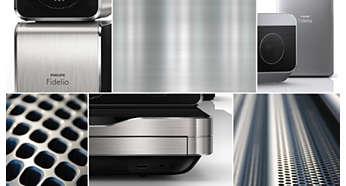 Design sofisticato con rifiniture in alluminio di alta qualità