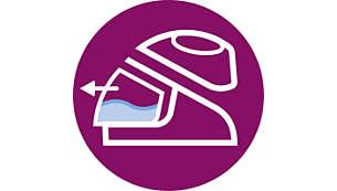 Abnehmbarer 1,5-Liter-Wasserbehälter, bis zu 2Stunden bügeln