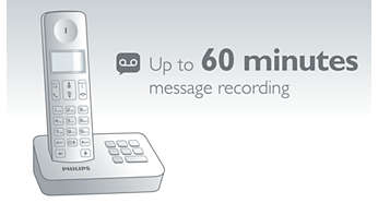 Up to a 60 min. message on your answering machine