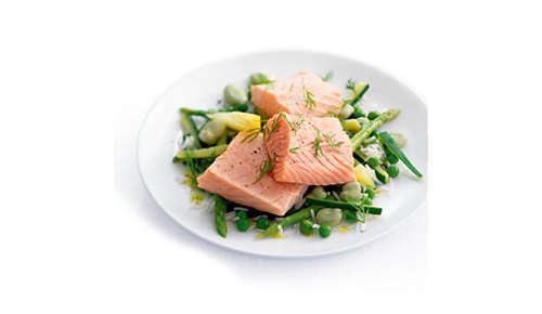Cottura a vapore sana che mantiene le sostanze nutritive degli alimenti