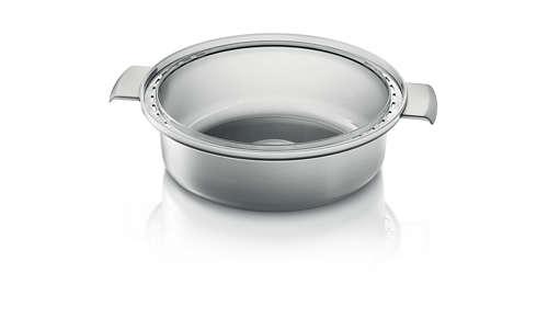 Stoomschaal voor soep, stoofschotels, rijst en meer