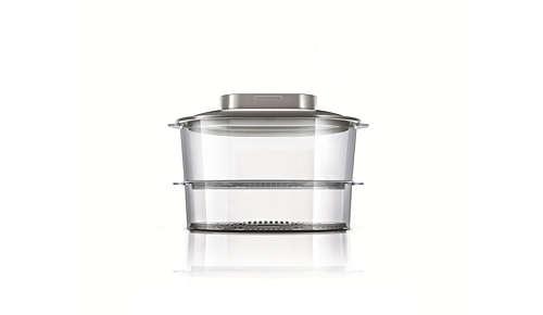 2 cestelli per cuocere a vapore ingredienti diversi in una volta sola