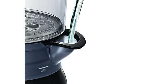 Eenvoudig te vullen waterreservoir