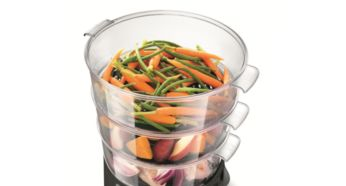 9L capacity and removable tray bottoms to fit a whole chicken - Philips Avance Collection Steamer