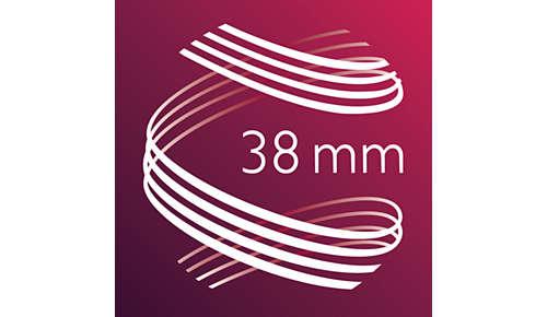 Cilindro da 38 mm per ricci morbidi e massimo volume
