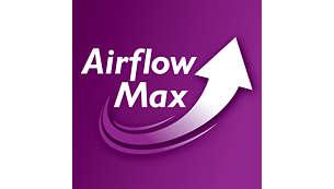 Revolucionarna tehnologija Airflow Max za visoko moč sesanja