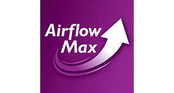 Revoluční technologie Airflow Max pro mimořádné sání