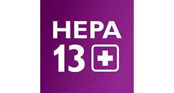 Το φίλτρο HEPA AirSeal με HEPA 13 συγκρατεί το 99,99% της σκόνης
