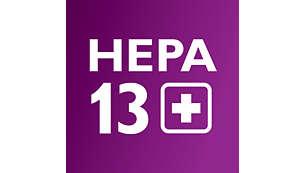 HEPA AirSeal met HEPA 13-filter houdt 99,99% van het stof vast
