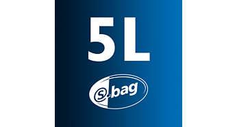 5 l stofcapaciteit voor langer schoonmaken