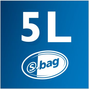 5 l dulkių talpa – ilgesnis valymas