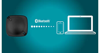 Easily connect to Bluetooth-enabled smartphones and laptops