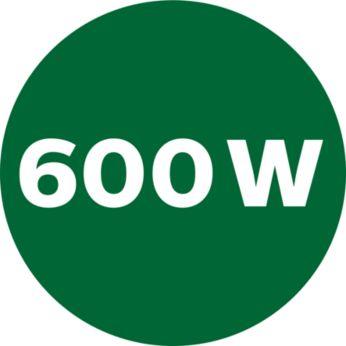 Powerful 600W motor