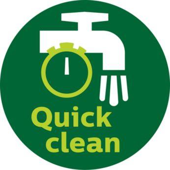 Quick clean button