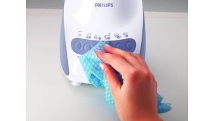 Easy cleaning soft touch panel