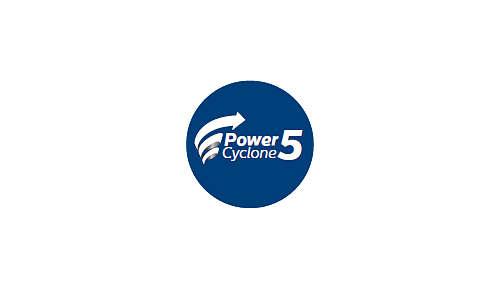 Die PowerCyclone5-Technologie trennt Staub und Luft in einem Durchgang.