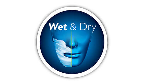 Comfortable shaving - wet or dry
