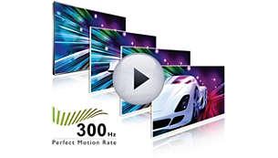 300Hz PMR (Perfect Motion Rate) för suverän rörelseskärpa