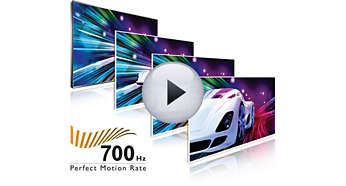 Canlı hareketli görüntü netliği için 700 Hz Perfect Motion Rate (PMR)