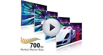 Perfect Motion Rate (PMR) 700 Hz pentru claritate vie a mişcării