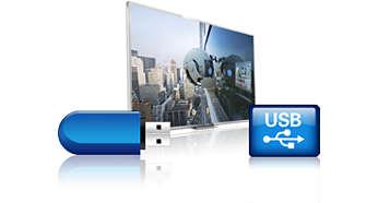 Функции Pause TV и запись на USB для приостановки и записи телепередач