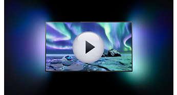 Dwustronny system Ambilight zapewnia większą intensywność wrażeń podczas oglądania