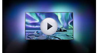 3-сторонняя фоновая подсветка Ambilight XL для более ярких впечатлений от просмотра