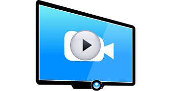 Cameră TV integrată pentru a facilita apelurile video pe Skype™ utilizând televizorul
