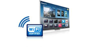 Integrovaná technológia Wi-Fi na jednoduché pripojenie k online svetu