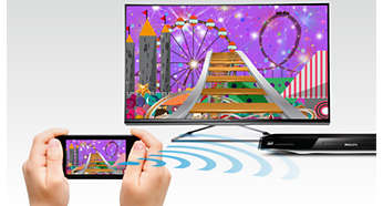 Wi-Fi Miracast™ - apresente o conteúdo dos seus dispositivos no televisor