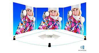 L'écran AH-IPS affiche des images impressionnantes avec de grands angles de vue