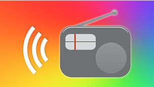 通过扬声器大声播放收音机中的音乐