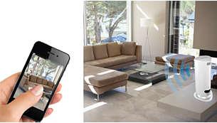 Sofortige Überwachung über Smartphone oder Tablet-PC