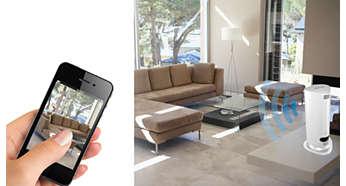 Az okostelefonról vagy táblagépről azonnal elindíthatja a megfigyelést